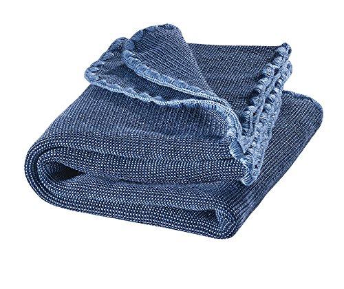 Preisvergleich Produktbild Disana Melange-Babydecke Wolle, Größe: 80x100 cm (blau)