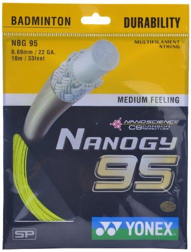 Yonex Nanogy 95 Badminton Strings, 0.69mm  Flash Yellow