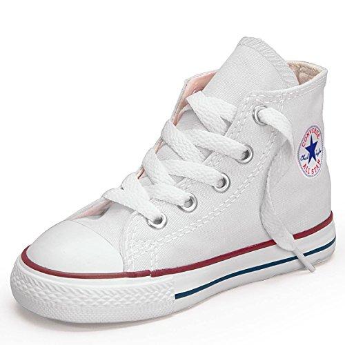 Converse Ctas Core Hi 015860-34-3 Sneaker, Unisex bambini Bianco (bianco)