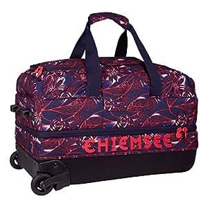 Chiemsee Reisetasche Reisetasche Premium Travelbag Medium, Rollenreisetasche mit Trolleyfunktion, in verschiedenen Farben, Flower Hibisku, 64 x 34 x 38 cm, 5070001