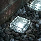 FvLu/ Tegole fotovoltaiche di luci giardino di cristallo cubo via gelata