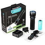 Olight® R50 Seeker Taschenlampe max. 2500 Lumen mit Cree XLamp XHP50 LED und Micro-USB-Ladeanschluss - wiederaufladbar, schwarz