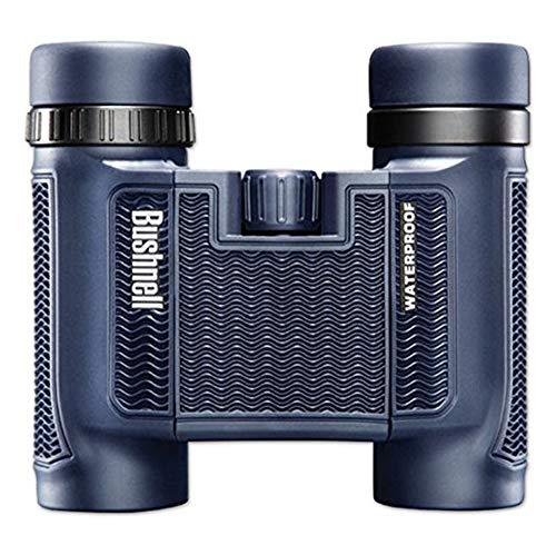 Bushnell 138005 H2O Fernglas (8x25mm, Inkl. Tasche und Trageriemen, Wasserdicht und vielseitig einsetzbar, Rutschfestes gummiarmiertes Gehäuse, Dachkant-Prismen, Aus hochwertigem BaK-4 Prismenglas)