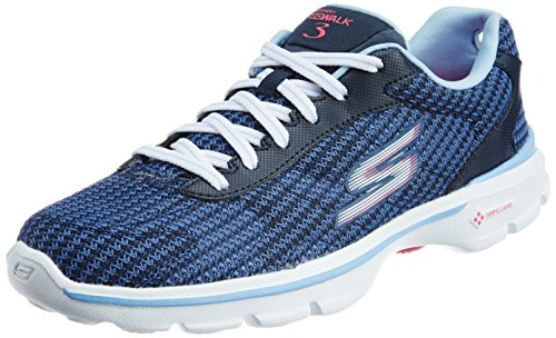 Skechers GOwalk 3 FitKnit Women's Sneakers - Blue (Nvlb), 6 UK (39 EU)