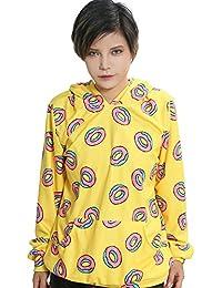 Frühling Herbst Kapuze pullover Jacke Unisex Cosplay Kostüm Gelb Baumwolle Hoodie Sweatshirt Top Kleidung für Männer