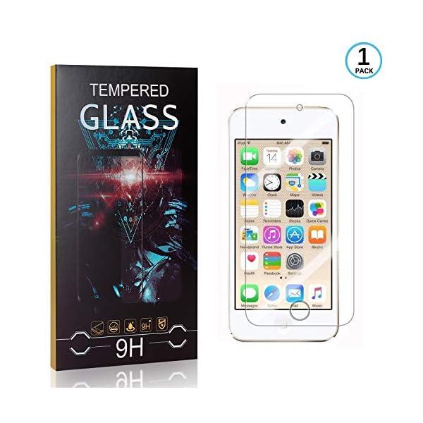 Ramcox Protector de Pantalla para iPod Touch 5th/6th Generation, Alta Sensible Vidrio Templado Protector de Pantalla… 1