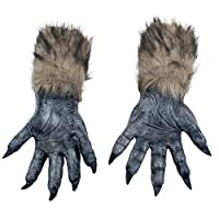 Fancy Dress VIP Express Adults Pair of Wolf Werewolf Hands Claws Paws Gloves Halloween Accessory
