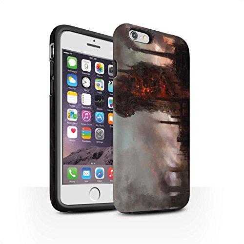Offiziell Chris Cold Hülle / Matte Harten Stoßfest Case für Apple iPhone 6 / Gift Haupt Muster / Gefallene Erde Kollektion Industrie Maschine