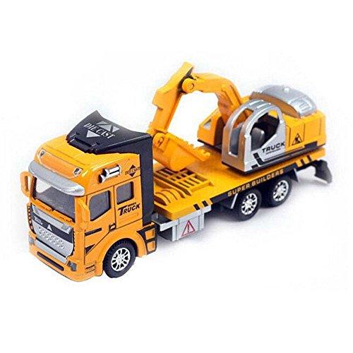 Trägheit Spielzeug Baufahrzeuge, Pawaca Friction Powered Bagger Engineering Bau Gebäude Lkw Lernspielzeug für Kinder Geschenk (7,5 Zoll) - Powered Bagger