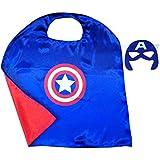 Captain America Superhero Costume Cape And Mask Set For Kids