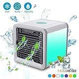 ZSY Home Tragbarer Luftkühler Für Zimmer Persönlicher Mini Raum Klimaanlage Ventilator Air Cooler Fan mit LED Nachtlicht USB Betriebene Desktop-Befeuchter Wasser Verdamtzungs Maschine Weiß