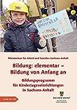 Bildung: elementar ? Bildung von Anfang an: Bildungsprogramm für Kindertageseinrichtungen in Sachsen-Anhalt Fortschreibung 2013