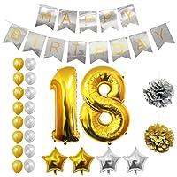 Set Palloncini 18° Compleanno da Belle Vous   Questo set di palloncini per compleanno trasformeranno una normale festa di compleanno in quella del secolo; con ben 24 pezzi potrai essere sicuro di organizzare l'evento più memorabile dell'anno...