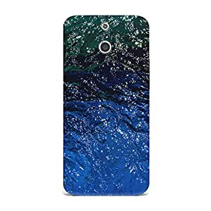 Qrioh Printed Designer Back Case Cover for HTC E8 - Shiny Water Texture Reflections