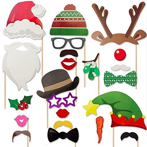 TOAOB 23 Stück Weihnachten Party Foto Fotorequisiten & Fotoaccessoires Photo Booth Fotorequisiten Fotobox Accessoires Foto Requisiten