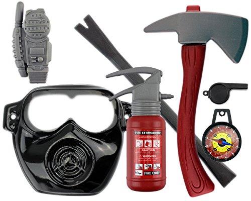 GYD Feuerwehr Set XXL Maske Beil Axt Feuerlöscher uvm. Feuerwehrmann Kostüm