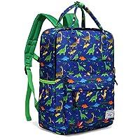 Backpack for Boys, Kasgo Toddler Kids Personalized Preschool Backpack for Kindergarten Children Lightweight Daypack with Chest Strap in Dinosaur