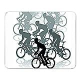Course de Bicyclette Tapis de Souris, Clavier/Tapis de Jeu résistant à l'eau avec des Bords Cousus durables idéal pour Le Jeu et l'ordinateur Portable Bureau