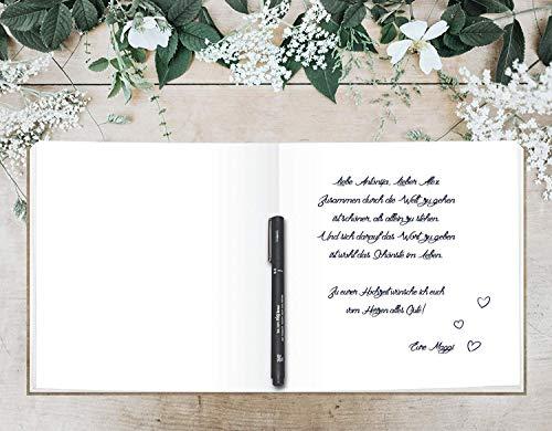 Blanko Hardcover Gästebuch - 4