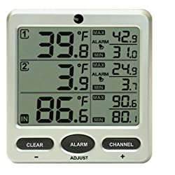Ambient Weather WS-091-C Wireless Indoor/Outdoor 8-Channel Thermometer with Daily Min/Max Display Console Only