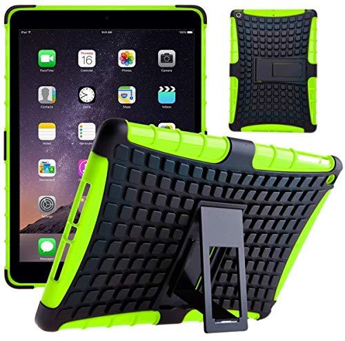 G-Shield Hülle für iPad Air 2 Stoßfest Schutzhülle mit Ständer - Grün (Ersatz-bildschirm 2 Ipad Air)