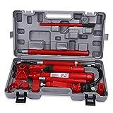 Martinetto Idraulico, Set di Attrezzi Riparazione della Struttura Corpo Furgone per Auto Motore Idraulico Jack da 10 Tonnellate Rosso