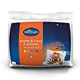 Silentnight Warm and Cosy Pillow Pair, Microfibre, White, Twin