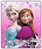 Disney Frozen Kuscheldecke Die Eiskönigin Anna und ELSA - Fleecedecke Decke 120 x 140 cm Trendstern Fleecedecke