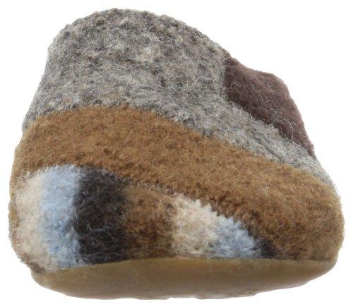 Haflinger Quarter 481009, Pantofole donna Marrone (Braun (dunkelbraun 62))