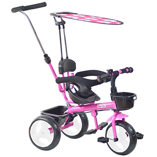 Tricycle 4-en-1 boppi - 9 à 36 Mois - Rose
