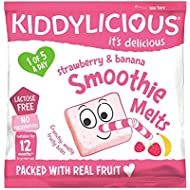 Kiddylicious Strawberry and Banana Smoothie Melts 6g, (Pack of 16)