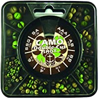 Anchor Tackle Unisex camuflaje 8división Plomos split shot Shot dispensador para ajuste fino de la carpa Rigs, Mulitcoloured, L