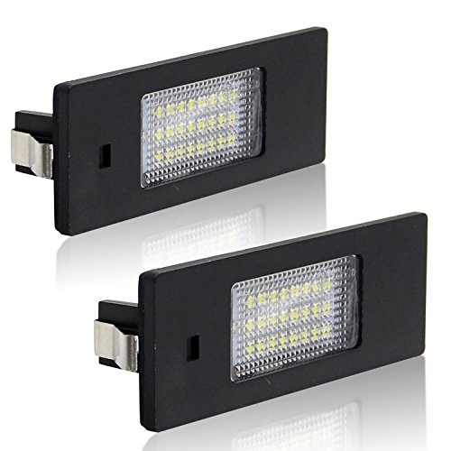 Win Power SMD LED Kennzeichenleuchte Heckleuchte für 12V PKW, 6000K Xenon-Look, Nummernschildbeleuchtung, Weiß, 2 Stück (6-licht Halogen-anhänger)