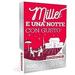 Idea Regalo - EMOZIONE3 - Cofanetto Regalo - MILLE E UNA NOTTE CON GUSTO - 590 soggiorni in meravigliosi hotel e strutture selezionate
