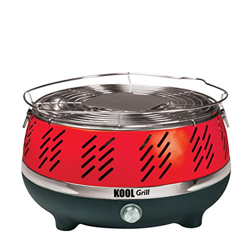 Kool Grill - Portable Outdoor Charcoal BBQ Grill System with Fan for fast heat and BONUS Carry Bag (As Seen on High Street TV)