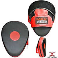 MAXSTRENGTH Curved Focus Pads and Punch bag boxing gloves set, ideal for sparring, hook and jab for junior and Senior Fitness