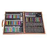 150PCS Children Art Set dans la boîte en bois, BAFFECT® Crayons de couleur Huile Pastels Crayons Marqueurs de couleurs Peintures d'aquarelle Ensemble de peinture pour enfants Entrées Cérémonies Cadeaux d'anniversaire