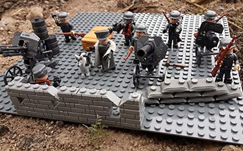 Modbrix 17002 ✠ Wehrmacht Artillerie Schützengraben inkl. 8 custom Minifiguren über 300 Teile ✠ - 4