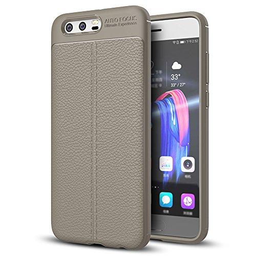 "Coque Huawei Honor 9 (5.15""), MSVII® Anti-Shock Silicone TPU Souple Coque Etui Housse Case et Protecteur écran Pour Huawei Honor 9 (5.15"") - Rouge / RED JY90106 Gris"