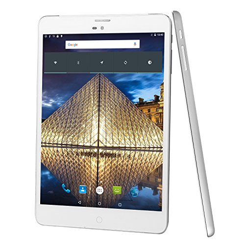 Winnovo M798 4G Débloqué Tablette tactile Android 5.1 Phablette 7.85'' Métal - Quad Core - 16 Go ROM - 1024x768 HD - Seule Carte SIM - Double Caméra - Bluetooth - Wifi (Argent)