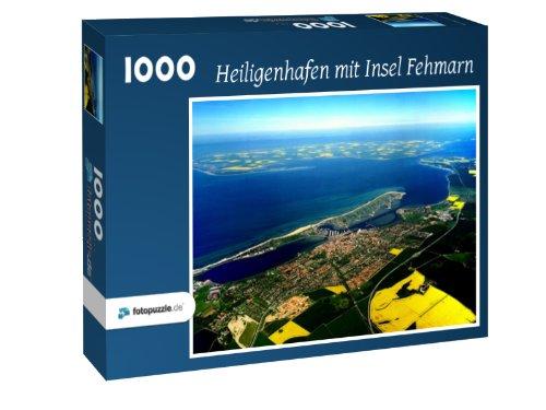 Preisvergleich Produktbild Heiligenhafen mit Insel Fehmarn - Puzzle 1000 Teile mit Bild von oben