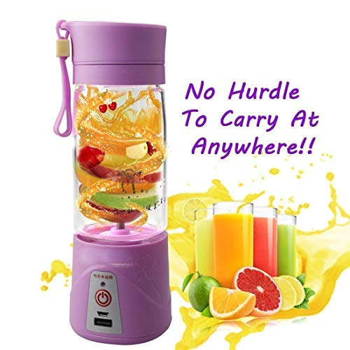 Shree Krishna echargeable Portable Electric Mini USB Juicer Bottle Blender for Making Juice, Shake, Smoothies , Travel Juicer For Fruits And Vegetables , Fruit Juicer For All Fruits , Juice Maker Machine , Juicer Hand Machine