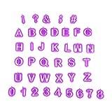 Ectxo Fondant Ausstecher Set Buchstaben und Zahlen Ausstechformen für Küche Torten Dekorieren (26 Buchstaben, 9 Zahlen, 5 Satzzeichen)