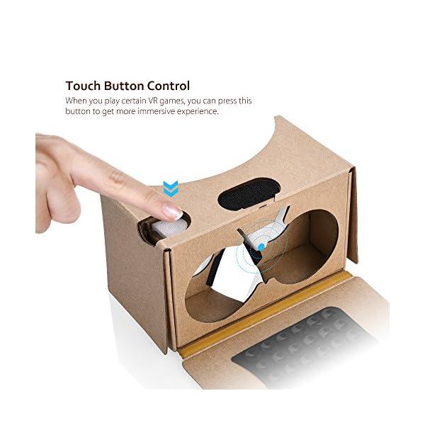 2017-VERSIONTopElek-Dernire-Google-Cardboard-Kit-V2-Grande-Lentille-3D-Virtuelle-Ralit-Cardboard-VR-Lunettes-en-Carton-avec-T-Casque-Compatible-avec-35-55-pouces-Ecran-Android-et-Apple-Smartphone-Cade
