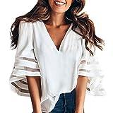 Btruely Blusen Damen Sweatshirt Loose Fit Pullover T-Shirt V-Ausschnitt Hemden 2018 Langarmshirts Freizeit Tops Frauen Oberteile Elegante Shirt