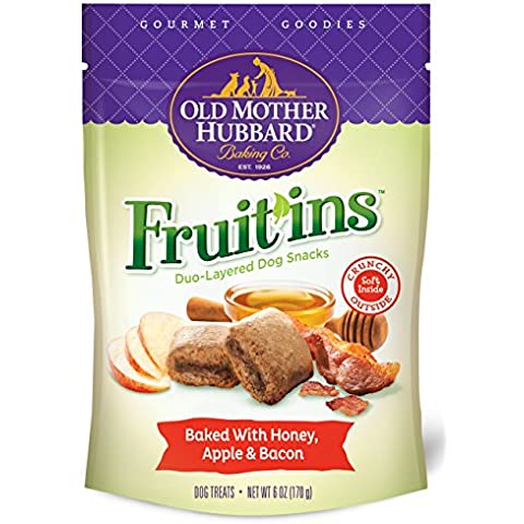 Old Mother Hubbard Fruitins Honey Apple and Bacon All Natural Pet Dog Treats 6z