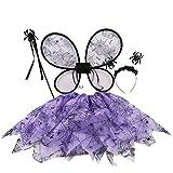 BESTOYARD Disfraces de Araña de Niña para Halloween (púrpura)