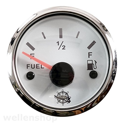 wellenshop 12V 24V Tankuhr Kraftstoffanzeige Treibstoffanzeige 33-240Ohm