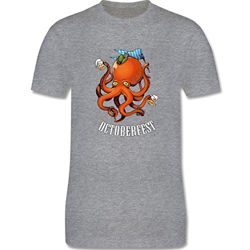 Oktoberfest Herren - Octoberfest Octopus - Herren Premium T-Shirt Grau Meliert