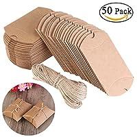 Descrizione:Le scatole fai-da-te hanno uno stile vintage e sono fatte di carta di alta qualità. Include 50 targhette da regalo e 20 cm di corda di canapa. Sulle etichette puoi scrivere quello che vuoi, è davvero un'idea romantica per matrimon...